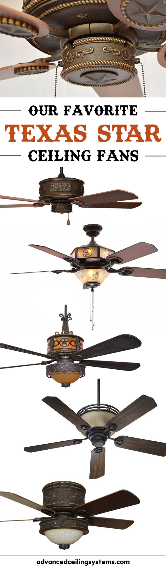 Those Looking For A Texas Star Ceiling Fan To Compliment Their Western Decor Will Love Our Top Picks These 5 Lone Fans Combine Rustic Style
