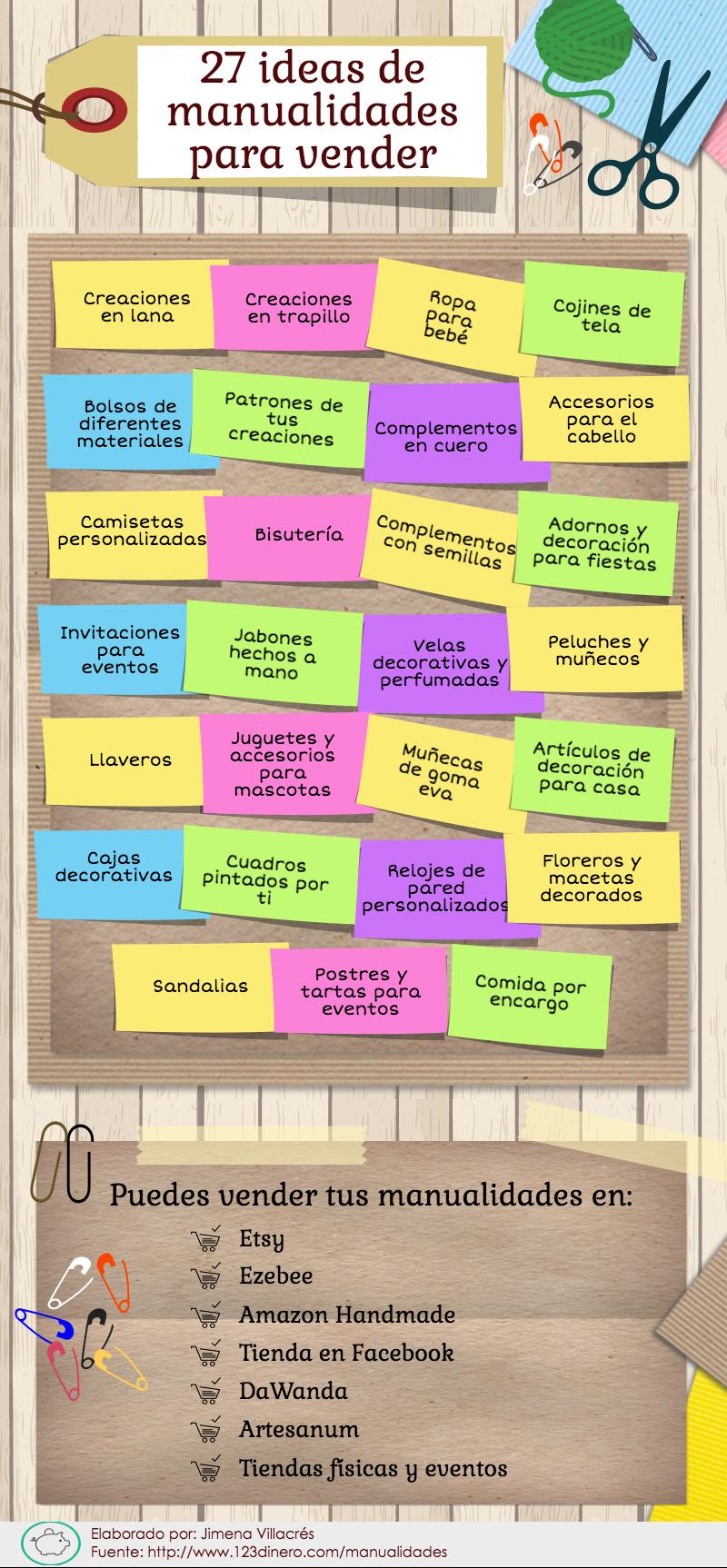 27 Ideas De Manualidades Para Hacer En Casa Y Donde Verder Manualidades Para Vender Manualidades Para Negocio Manualidades Para Hacer