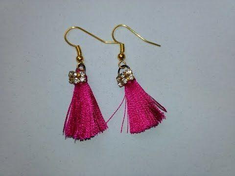 Diy Tassel Earrings W Embroidery Thread Youtube Hiral