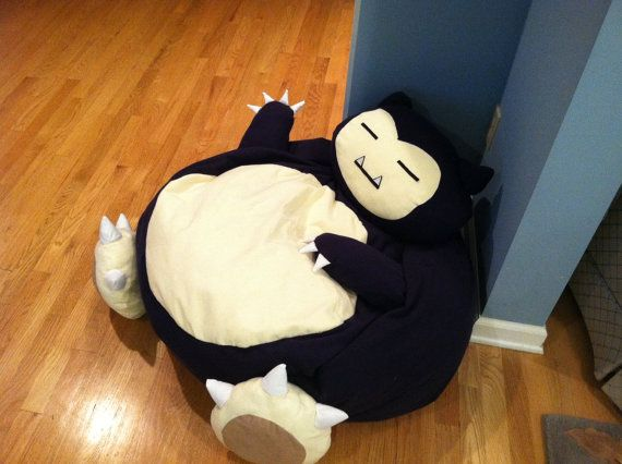 snorlax pokemon full size bean bag chair chairs beans and bag chairs. Black Bedroom Furniture Sets. Home Design Ideas