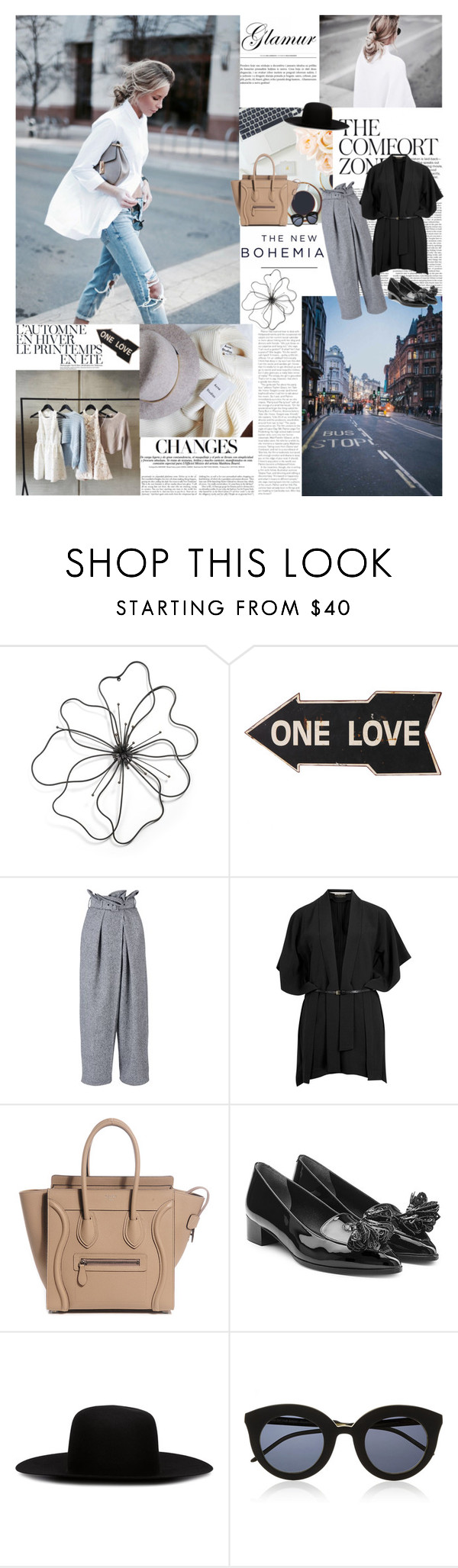 """""""We know what we are, but know not what we may be... by William Shakespeare"""" by valentina-back ❤ liked on Polyvore featuring Été Swim, American Eagle Outfitters, STELLA McCARTNEY, Roland Mouret, Robert Clergerie, Off-White, StreetStyle, StellaMcCartney, loafers and celine"""