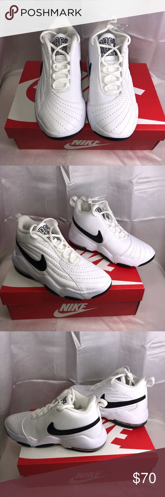Nike Air Core Force Sneakers Wht/Blk GS