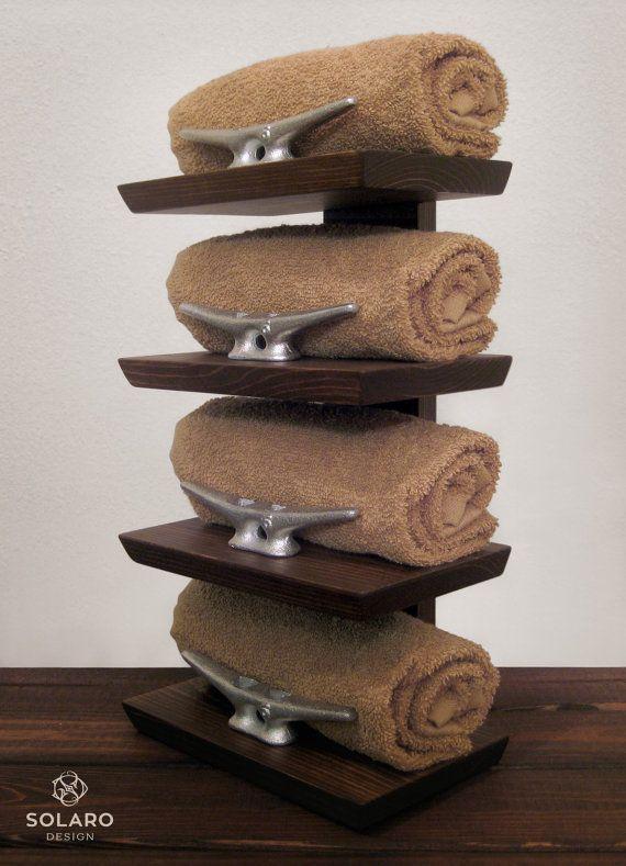 Wooden Beach Towel Rack