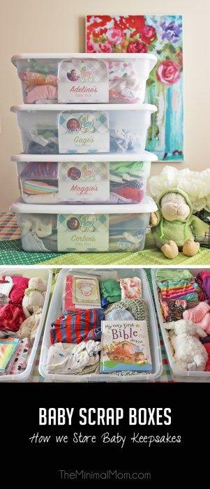 Baby Scrap Boxes How I Store Baby Keepsakes