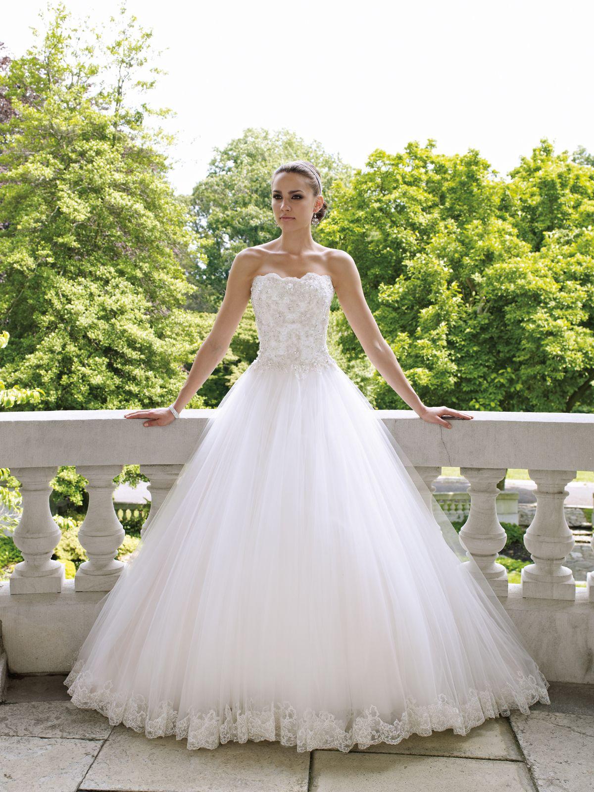 Wedding Dresses With Pink Accents - Ocodea.com