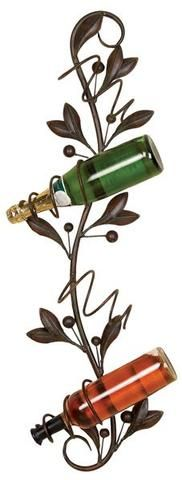 Olive Branch Wall Wine Holder