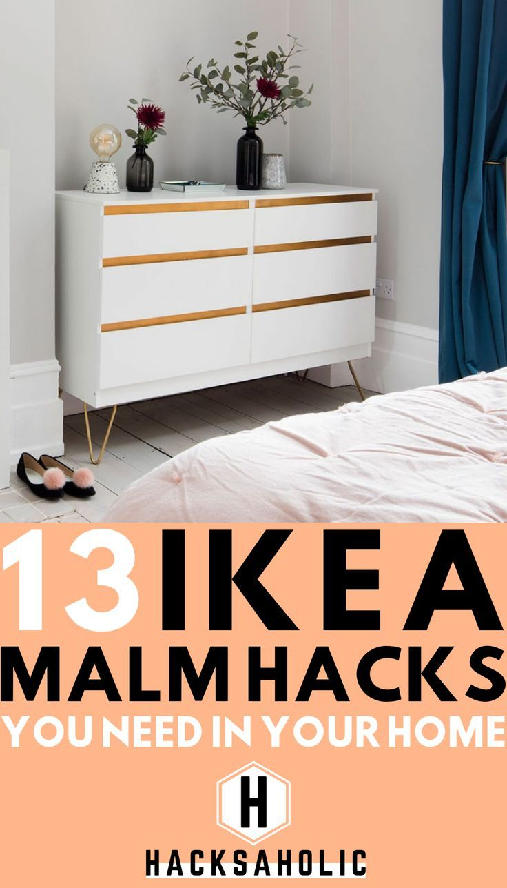 13 Ikea Malm Hacks You've Probably Never Seen Before - Hacksaholic #ikeahacks