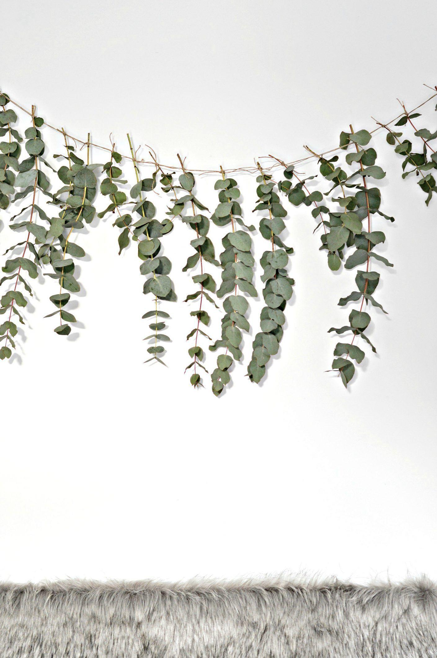 A Quick And Easy Diy Eucalyptus Garland Home Decor Your Family