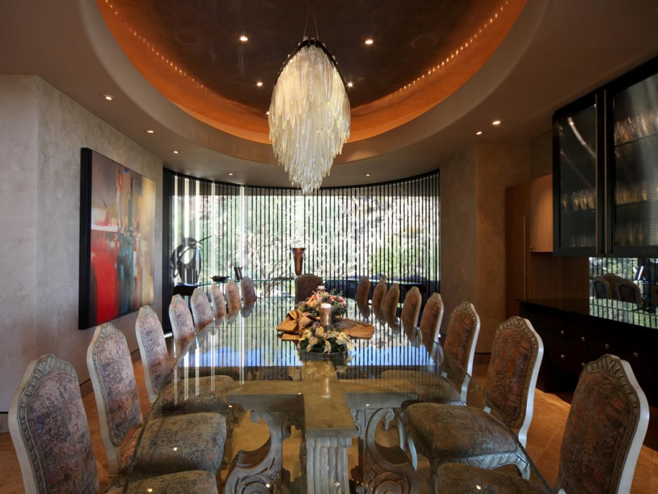 featured on hgtv's million dollar rooms , this formal dining room