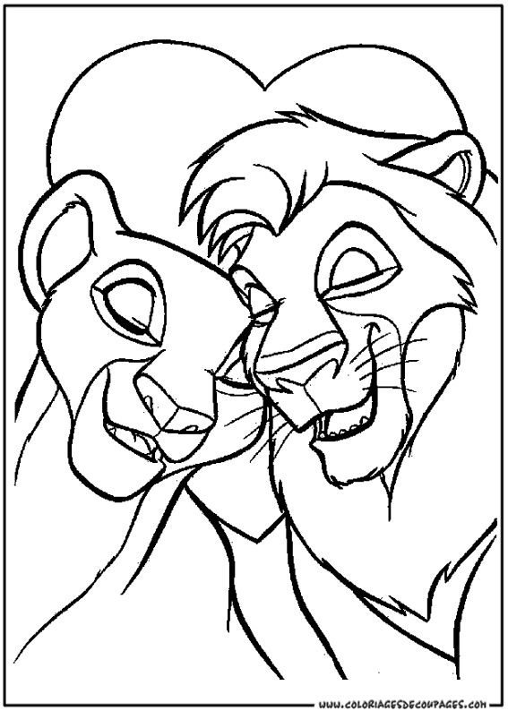 Dessin De Disney à Colorier Coloriages Lion Coloring Pages