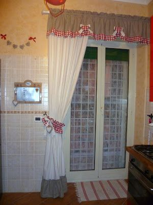 Tenda Country cucina | tende | Pinterest | Cucina, Shabby and ...