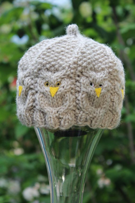 Hand Knit Newborn Great Horned Owl Hat By Purl2girls On