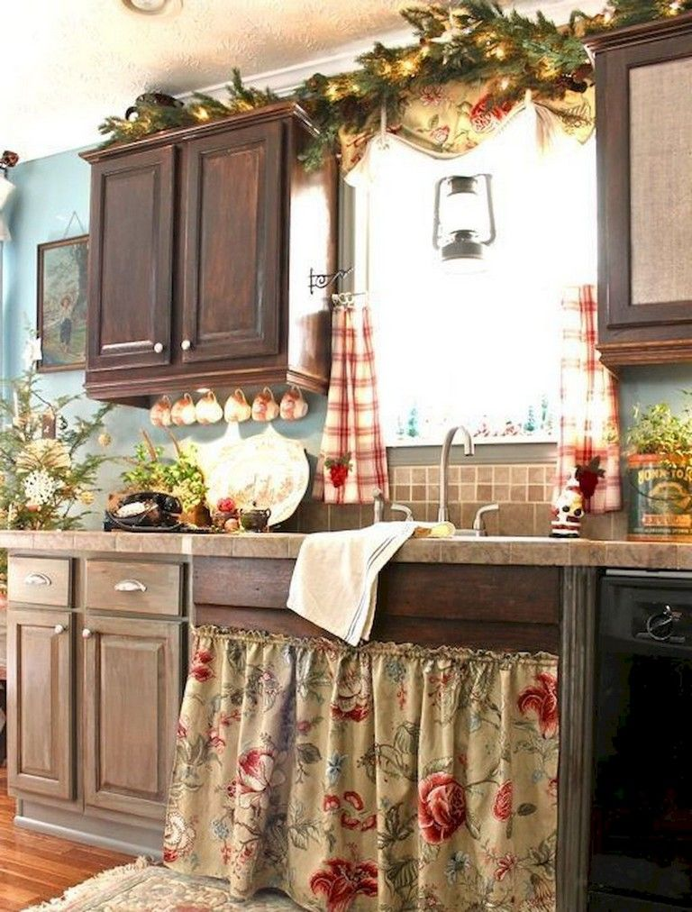 70 Beautiful Farmhouse Kitchen Curtains Decor Ideas Country