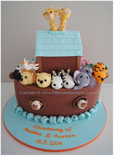 Noah S Ark Cake Google Search Noahs Ark Cake Christening Cake Boy