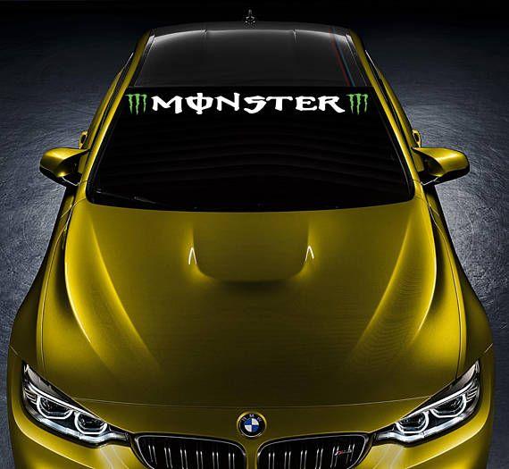 MONSTER ENERGY Car Vinyl Sticker Bumper Windshield Banner JDM Decal Graphic