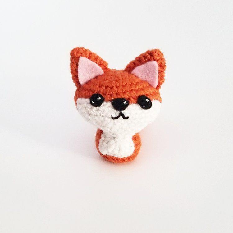 Fox Ornament Crocheted Woodland Friend