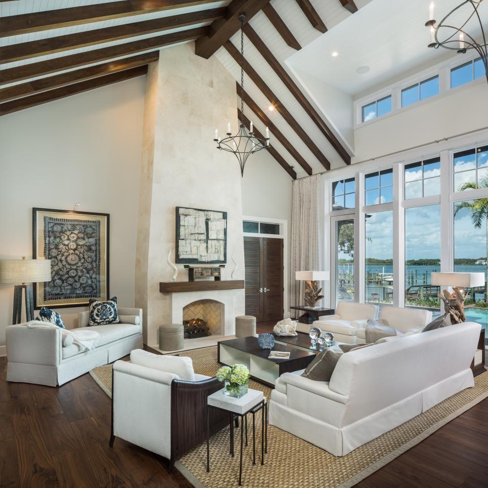 Siesta key bay front transitional living room tampa gail carlson interiors inc