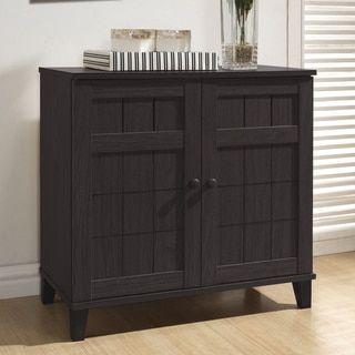 Baxton Studio Glidden Dark Brown Wood Multi Use Cabinet Muebles