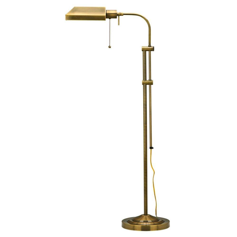 46 X 57 Adjustable Height Metal Pharmacy Floor Lamp Antique Brass Cal Lighting Pharmacy Floor Lamp Reading Lamp Floor Task Floor Lamp