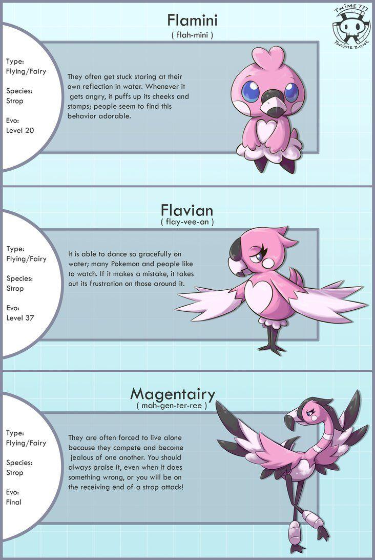 New Flamingo Fakemon by Twime777 on deviantART