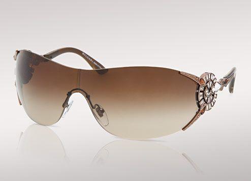 e93a7023442 Bulgari BVLGARI brown wrap around sunglasses with Serpenti motiv. 650   Model 6039B-245 13. 6039B-245 13