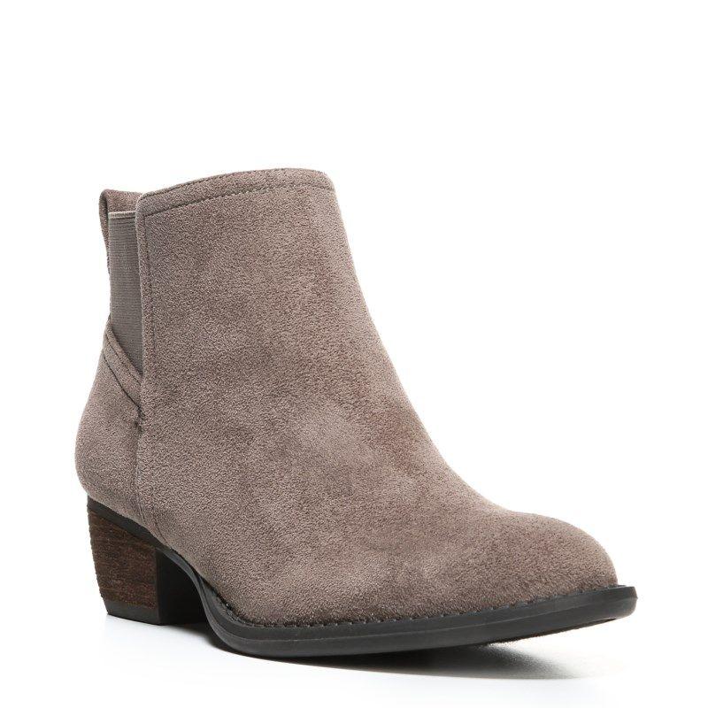 Dr. Scholl's Women's Jorie Block Heel Chelsea Boots (Stucco Microsuede)