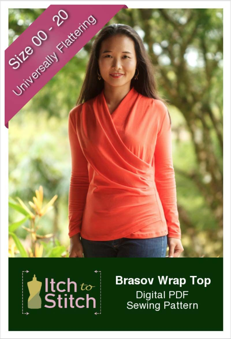 Brasov wrap top pdf sewing pattern by itch to stitch fall brasov wrap top pdf sewing pattern by itch to stitch fall winter sewing pattern jeuxipadfo Images