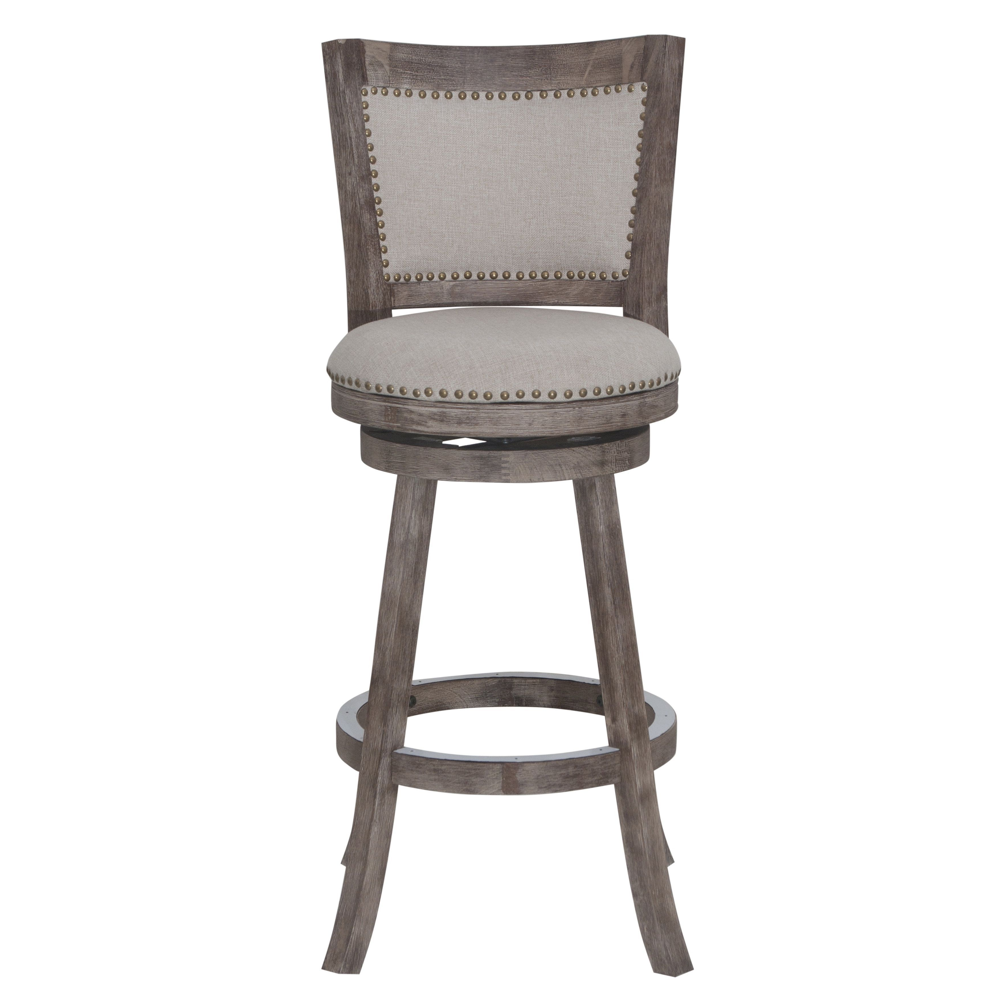 The Gray Barn Parker 29 Inch Swivel Bar Stool Distressed