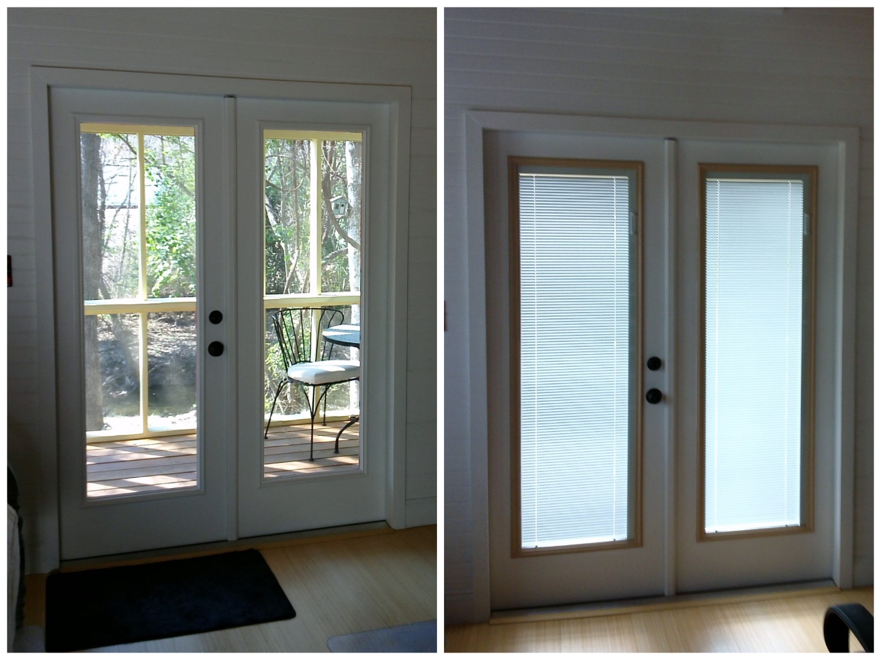 Before And After Images Of A French Door Inhouz Removed The