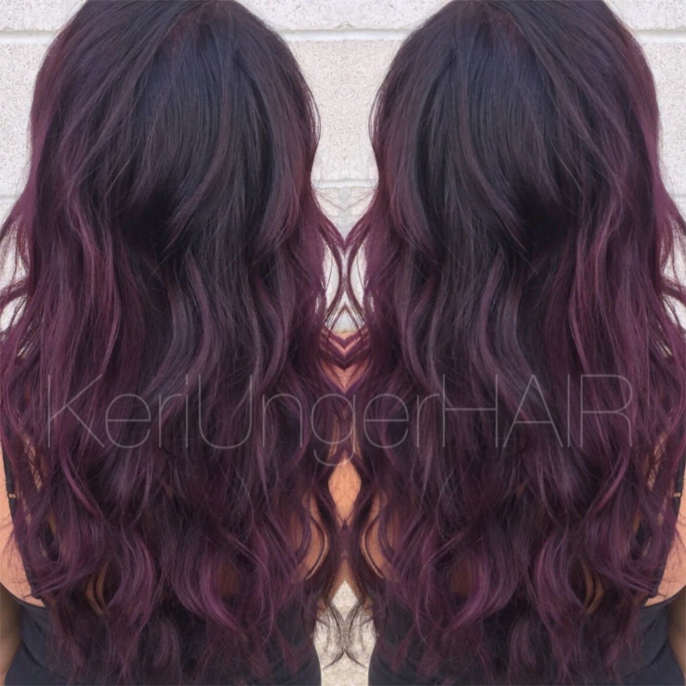 Perfectly plum // Violet hair Wella KeriUngerHAIR 1,440,899,1957