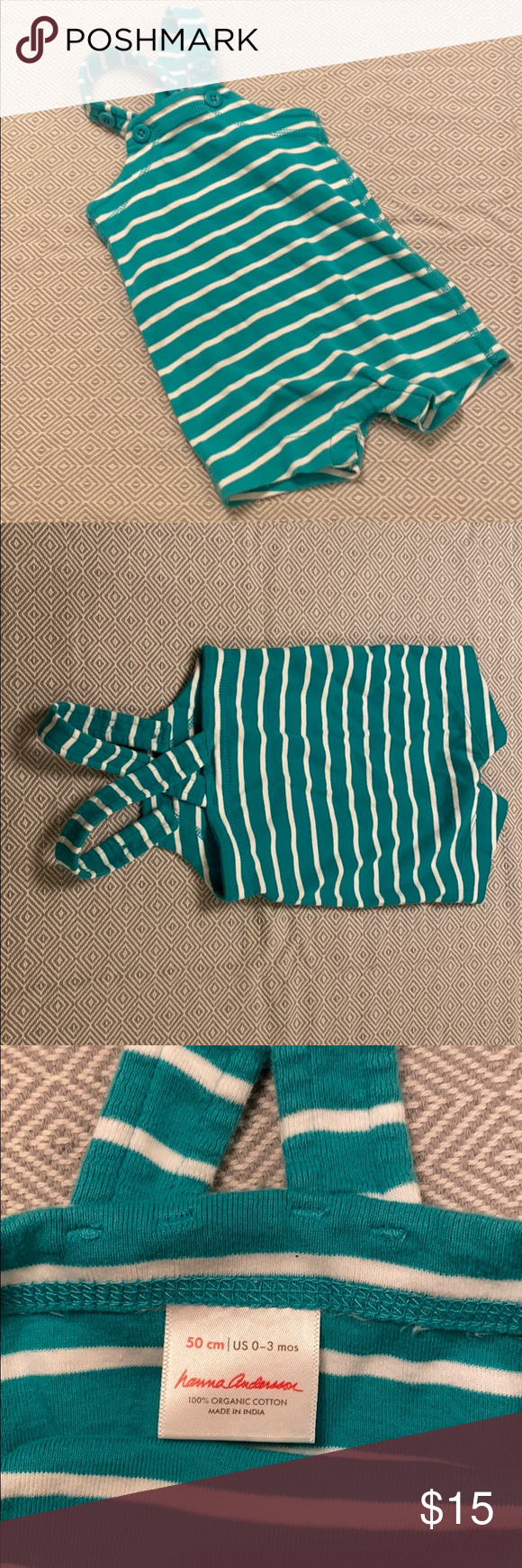 Hanna Andersson Shorts Romper / Shortalls Teal and white Hanna Andersson shorts romper / shortalls in size 0-3. Perfect for your little one's first Spring Break! 100% SOFT wonderful cotton. Washed once but never worn — unfortunately our little one wasn't the right size at the right time of year. Hanna Andersson One Pieces #Spring Break outfits shorts Source by karinschmid0592 #shortalls outfit women