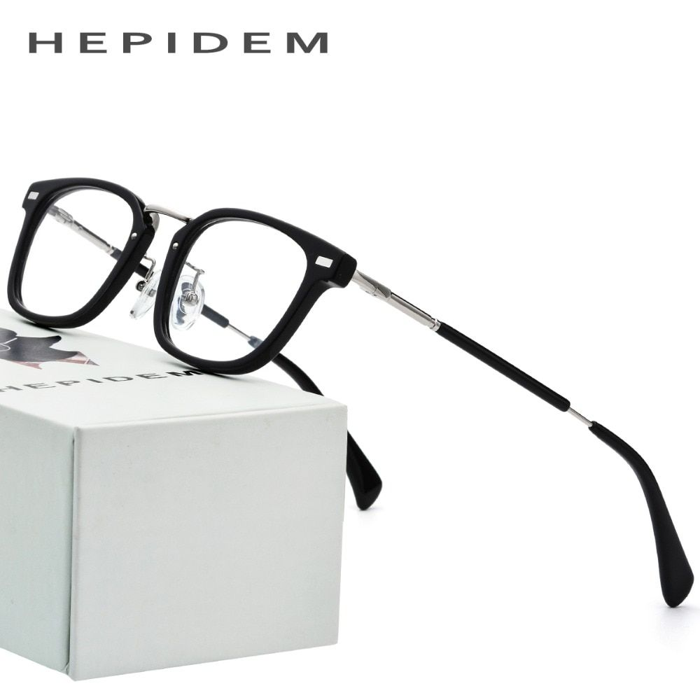 7fa7c24839 Pure Titanium Rimless Glasses Frame Men 2018 Light Vintage Polygon  Prescription Eyeglasses Women Myopia Optical Frames Eyewear Rev…