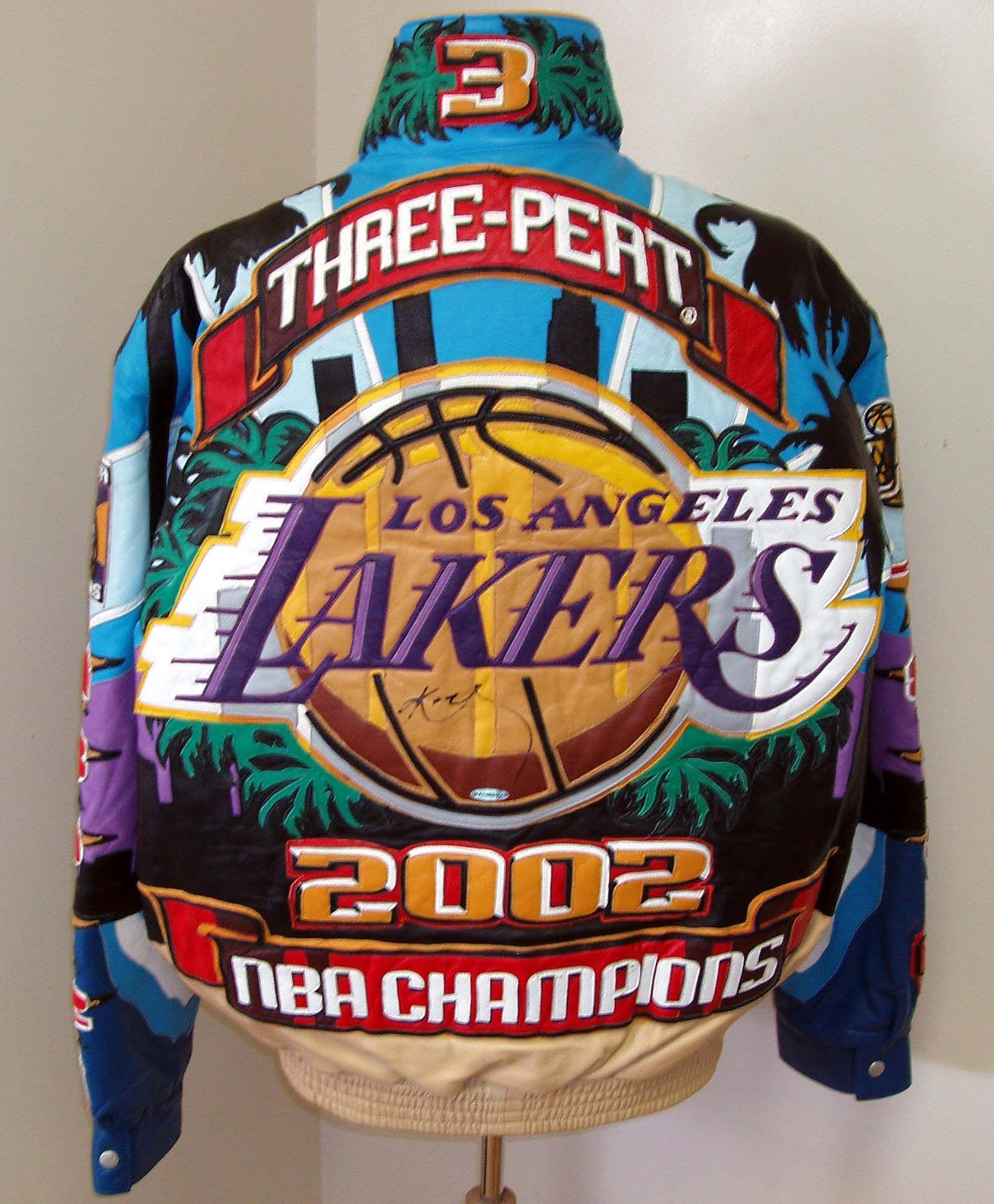2002 Lakers 3 Peat Leather Jacket Jeff Hamilton Exclusive Leather Jackets Nba Jacket Jackets Men Fashion Jackets