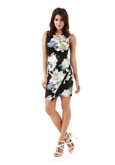 Asymmetric Flower Bodycon Dress Guess prix Robe femme Guess 90.00 ... 79ae3301d09