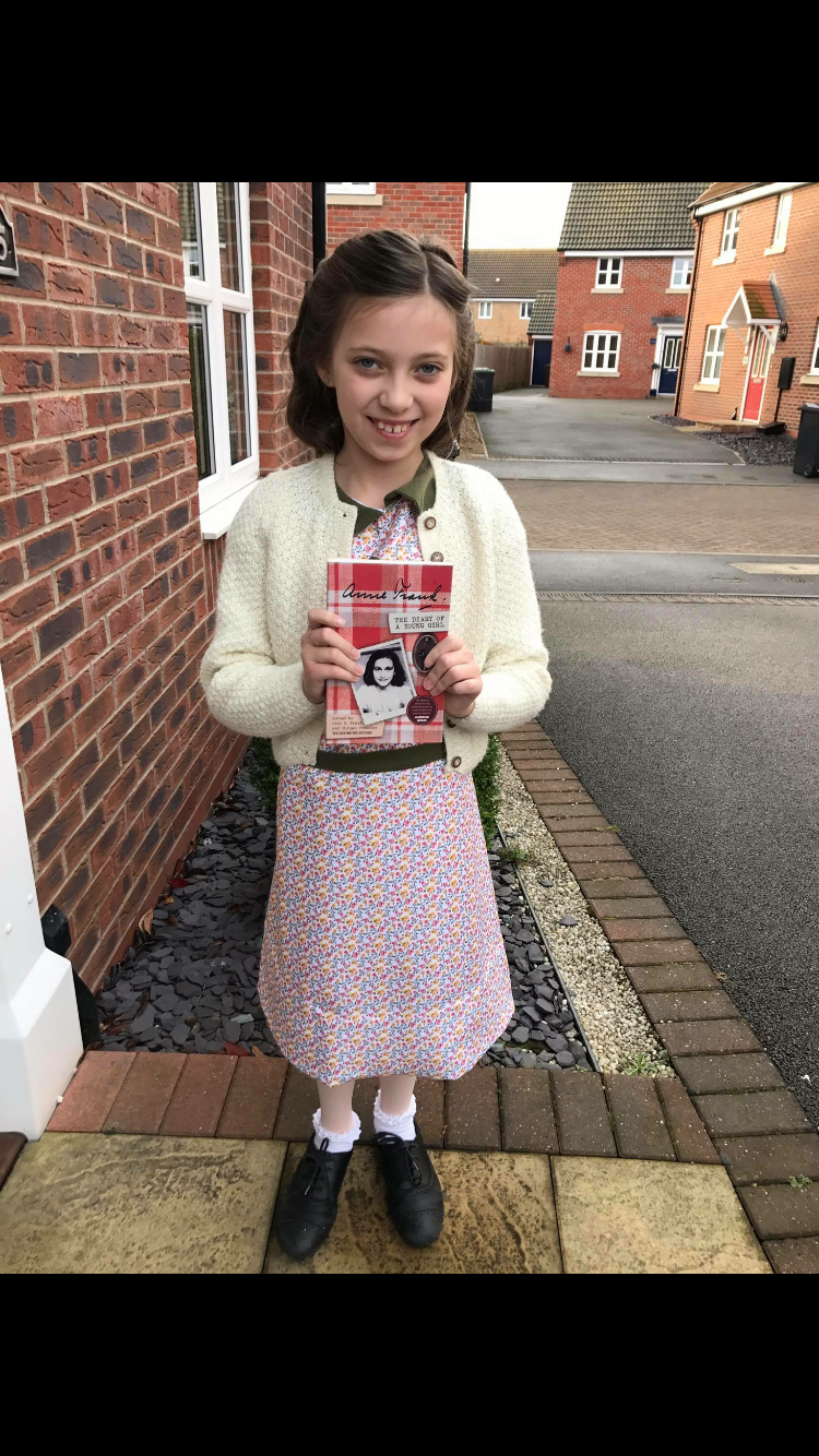 Anne Frank Costume World Book Day Fancy Dress For Kids Fancy Dresses Party Dress Up Day