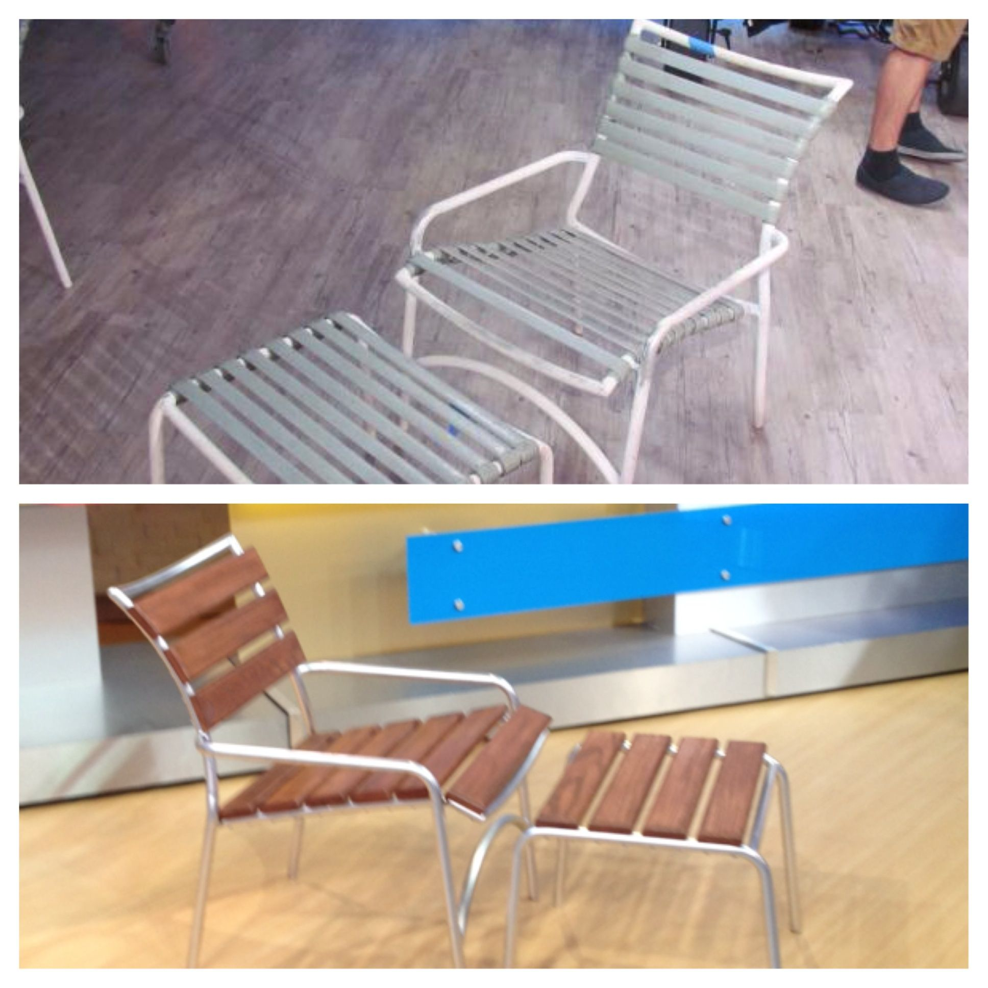 Transform old patio chairs see how here