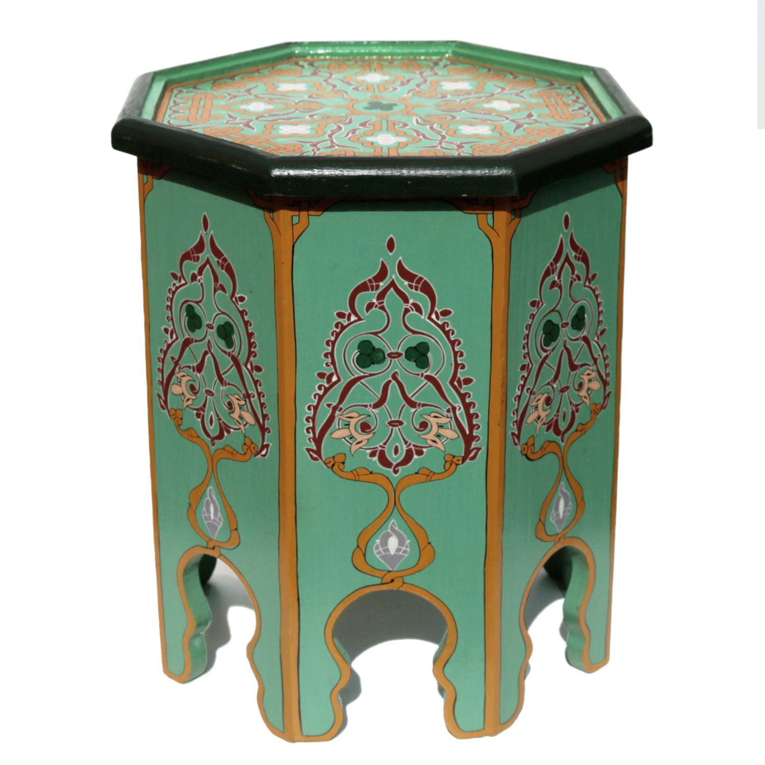 Moroccan Table Oriental Hand painted Coffee Table Wood Khadira
