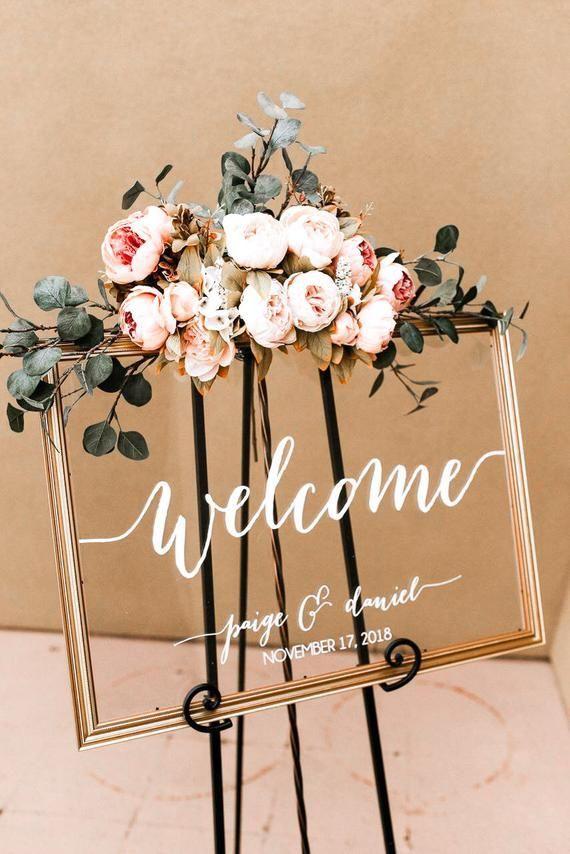 Wedding Welcome Sign – Wedding Signs – Acrylic Wedding Sign – Lucite Wedding Sign – Wedding Signs – Acrylic – Acrylic Wedding Signs -c