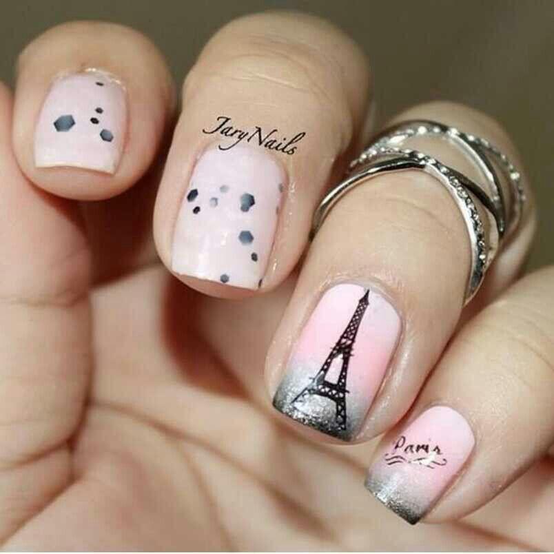 Paris love   Nail Designs   Pinterest   Makeup, Paris nails and Manicure