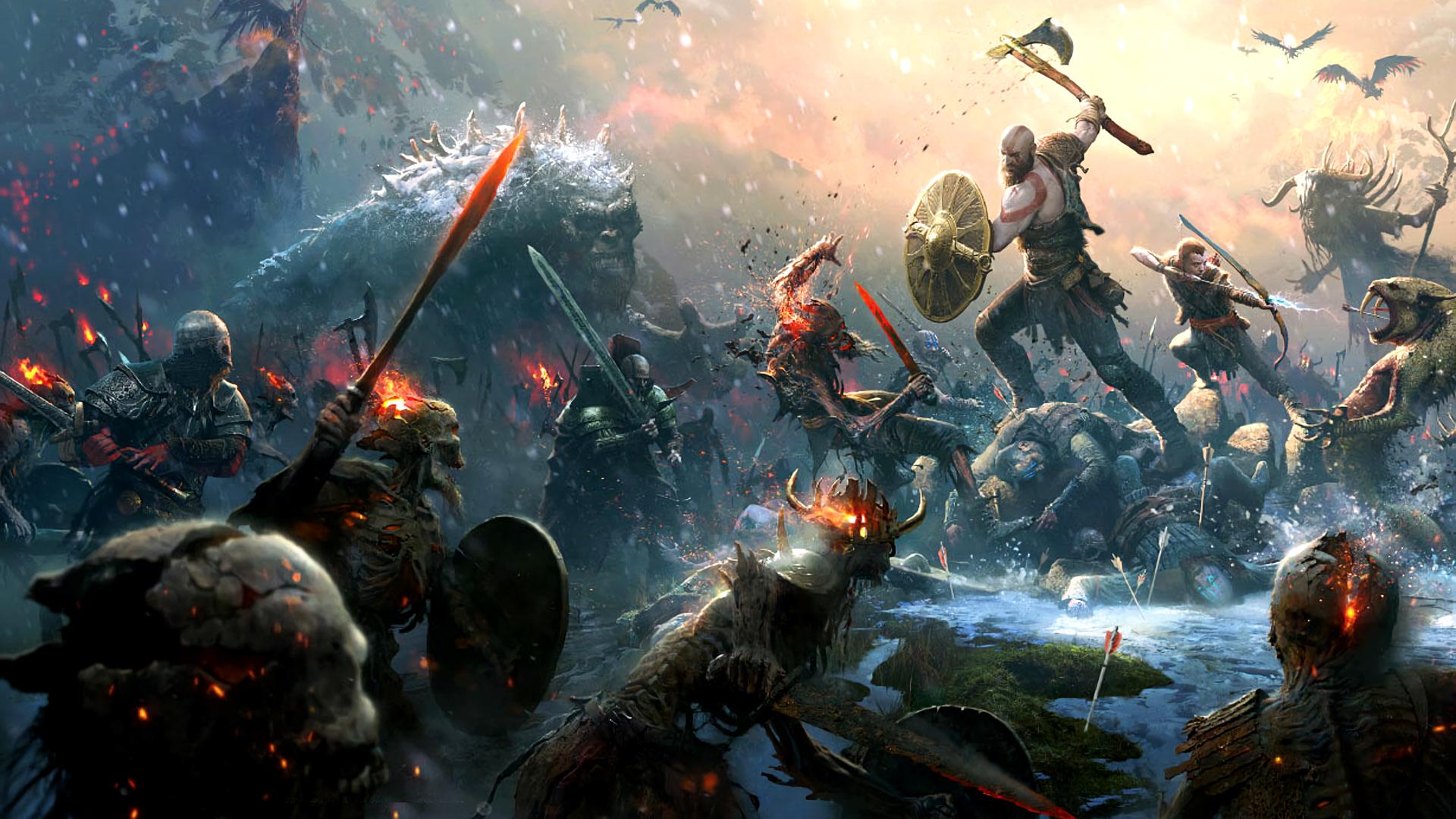 Wallpaper 4k Pc God Of War Trick God Of War Kratos God Of War War