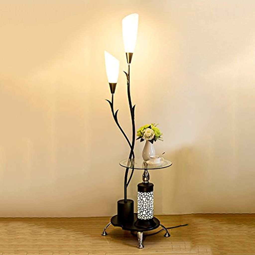 Stehleuchte Design Bodenleuchte Wohnzimmer Standlampe Stehlampe Bodenlampe Glas