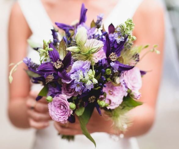 purple and lavender wedding flower bouquet, bridal bouquet, wedding flowers, add pic source on comment and we will update it. www.myfloweraffair.com can create this beautiful wedding flower look.