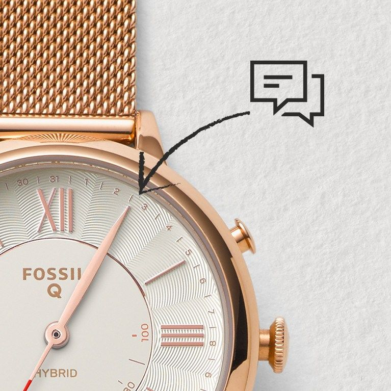 81e07a977 Hybrid Smartwatch - Q Scarlette Rose Gold-Tone Stainless Steel - Fossil
