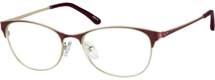 45e54f33e49 Zenni Womens Round Prescription Eyeglasses Red Stainless Steel