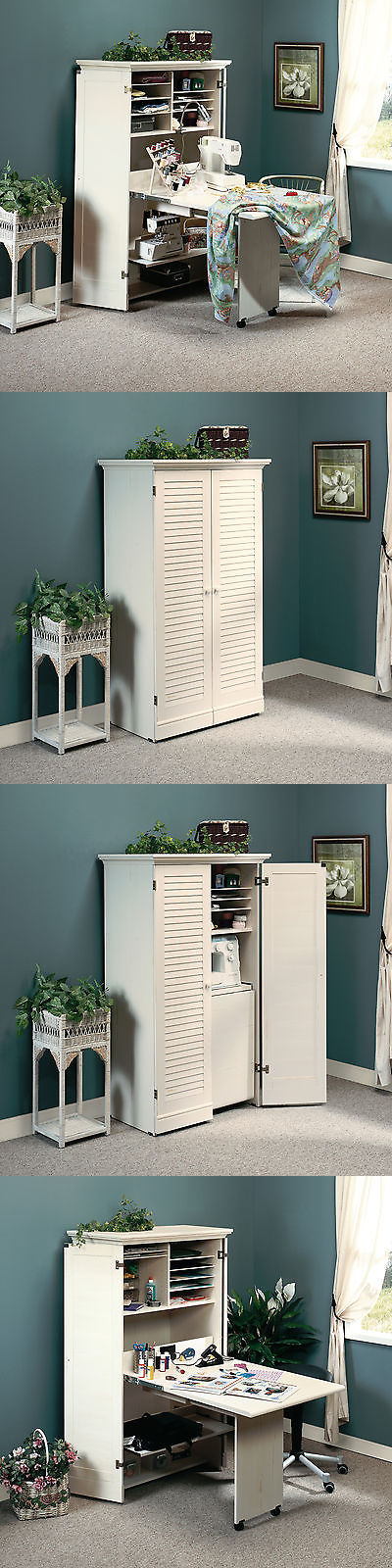 23+ Sauder harbor view craft and sewing armoire antique white ideas