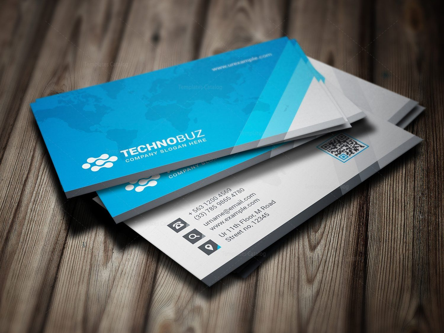 Global Premium Business Card Template 000786 | Graphic Template ...
