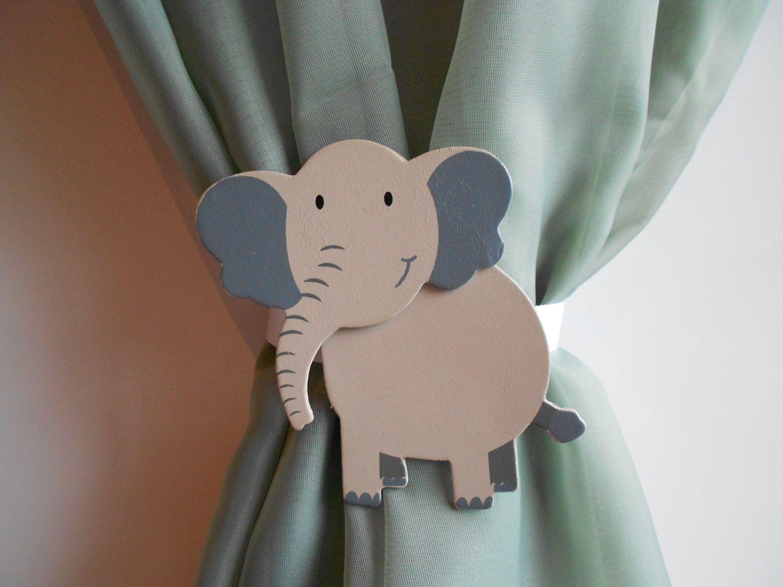 Elephant Nursery Decor Elephant Curtain Tie Backs Baby Room Decor By Tonyaandjoshua On Etsy Https Elephant Nursery Decor Elephant Nursery Elephant Curtains