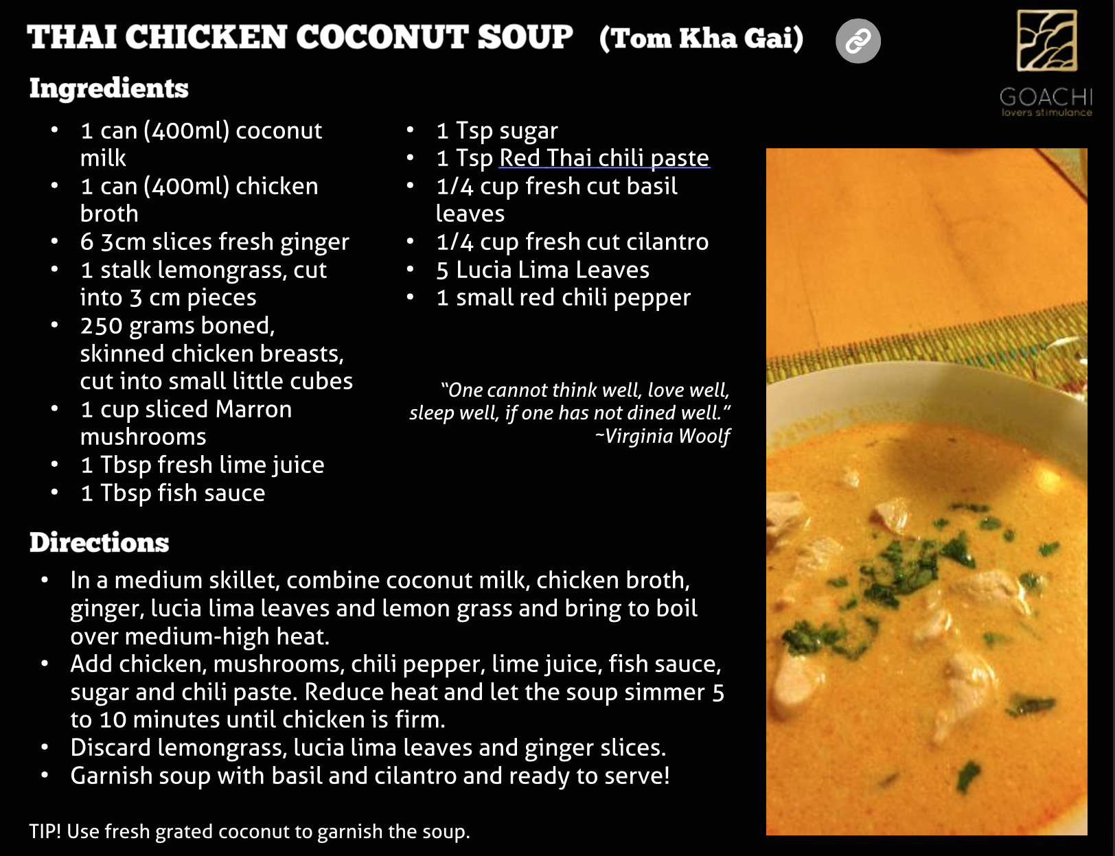 Thai Chicken Coconut Soup ♡☆ ♡ VALENTINES OFFER: https://goachi.leadpages.co/valentinesday/