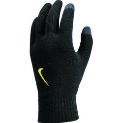 Photo of Nike Herrenhandschuhe Gestrickter Tech- und Griffhandschuh, Größe L-xl in Schwarz / Blau / Gelb, Größe L-xl in S.