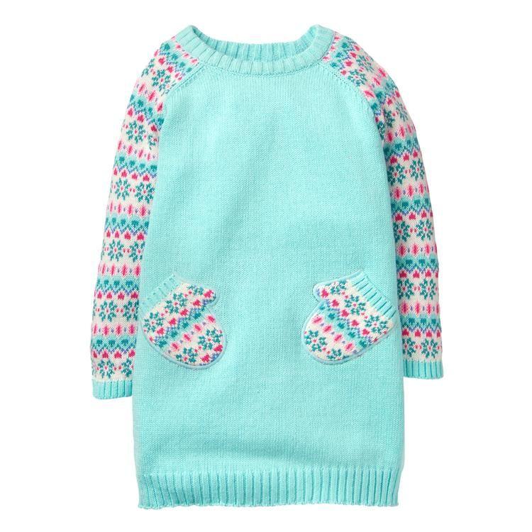 36135d332a Toddler Girl Aqua Mitten Shift Dress by Gymboree